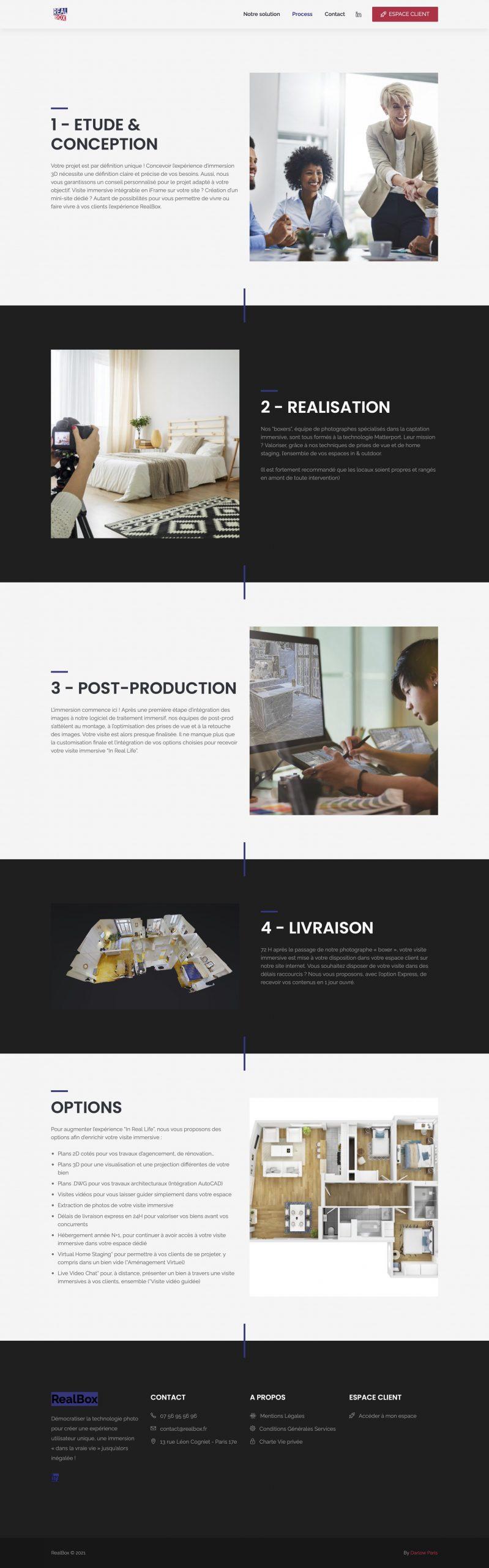 RealBox par Agence Darlow Paris I Agence site web & communication digitale I Paris / NYC / Dubaï
