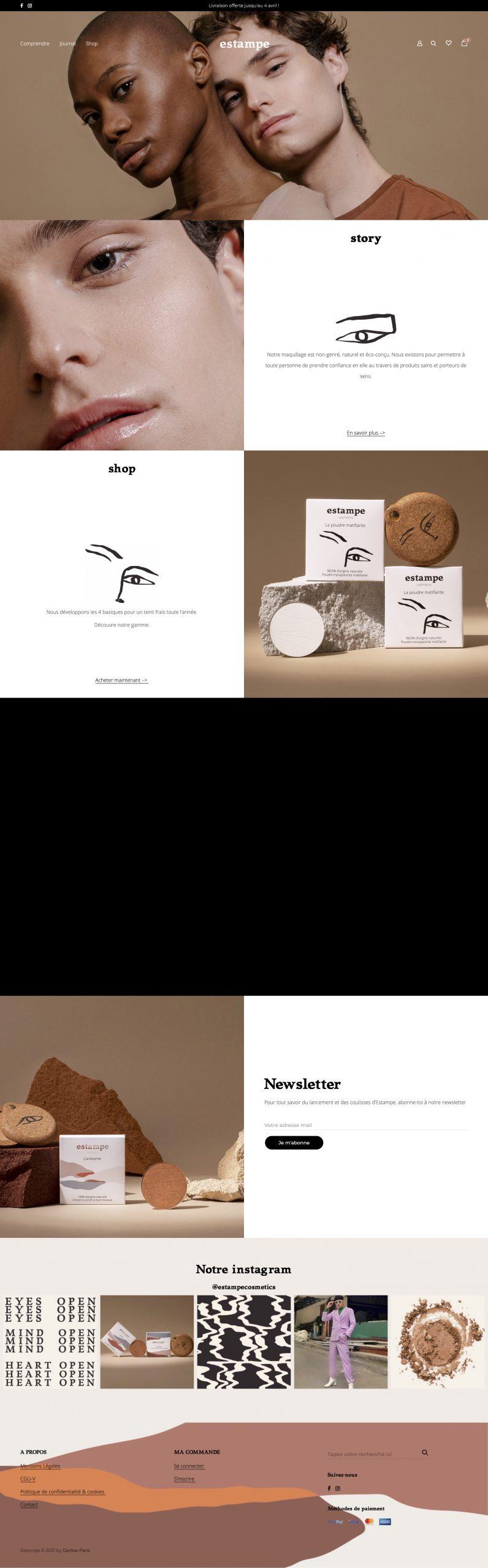 Estampe Cosmetics Home Page - Estampe Cosmetics