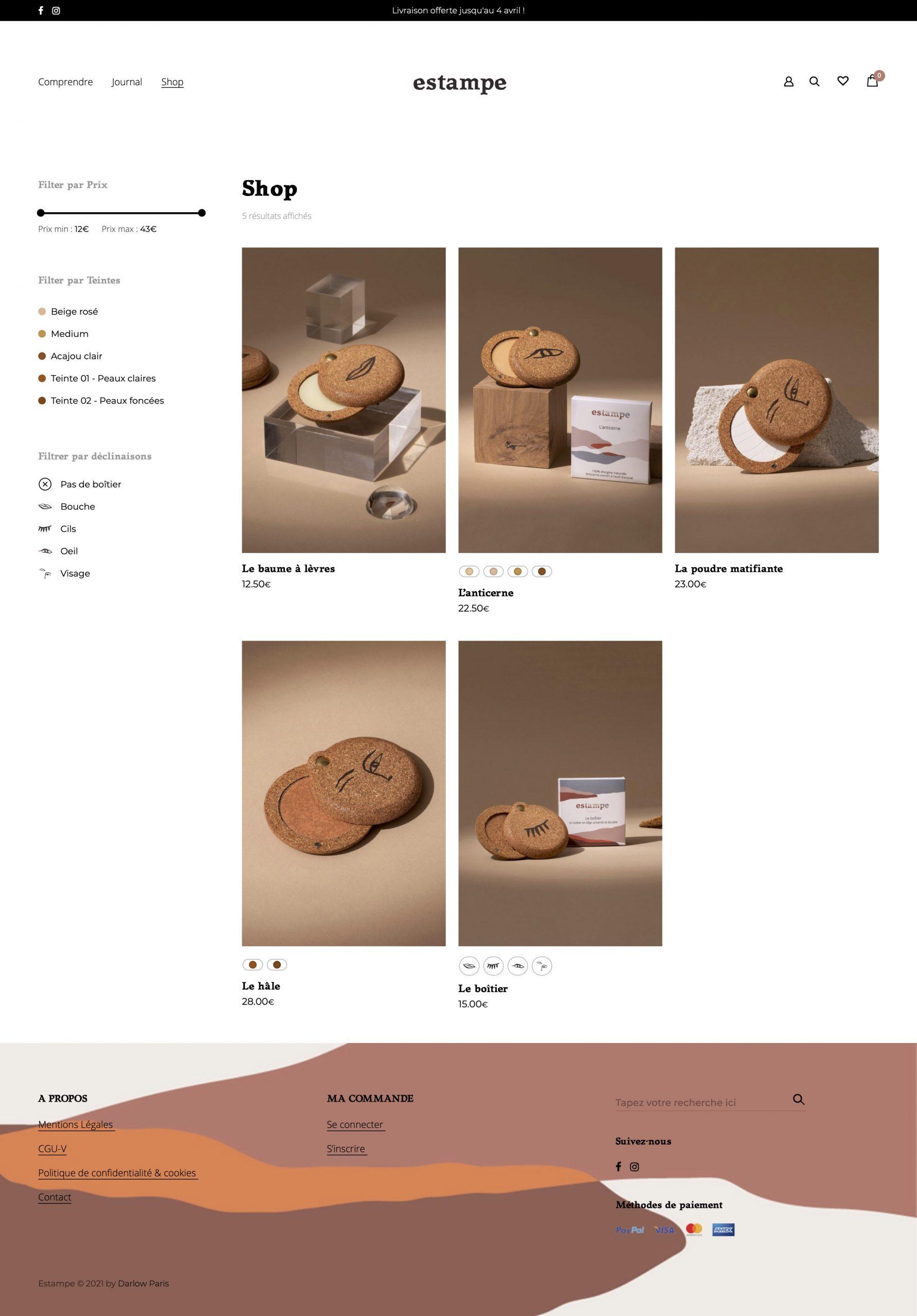 Shop - Estampe Cosmetics