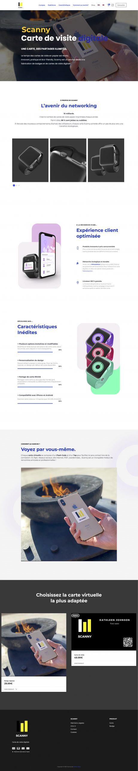 Scanny Card – Carte de visite digitale
